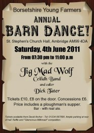 Jig Mad Wolf sample barn dance poster - please click to enlarge ...