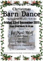 Jig Mad Wolf - sample Christmas barn dance poster - please click to enlarge ...