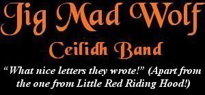 Image: Jig Mad Wolf Ceilidh and Barn Dance Band Banner - Postbag